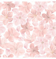 floral seamless pattern cherry or sakura flowers vector image