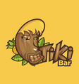 funny cartoon tiki mask vector image