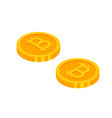 gold bitcoins cryptocurrency coins money icon in vector image