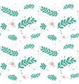 green leaf branches pattern vector image vector image
