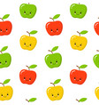 green red yellow cute apple seamless endless vector image vector image