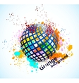 Grunge background with sphere vector image