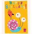 Happy Birthday card 9 vector image vector image