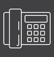 home phone line icon household and appliance vector image vector image