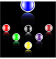 icon buttons vector image