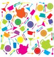 kitchen stuff pattern vector image vector image