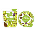 kiwi yogurt packaging design template vector image vector image