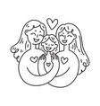 lesbian family concept lgbt woman couple vector image