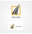 Logo for financial and bank companies vector image