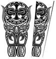 maori style tattoo vector image vector image