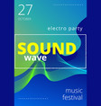 music beat abstract equalizer sound wave vector image vector image