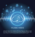 music wave infographic vector image vector image