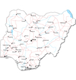 Nigeria Black White Map vector image vector image