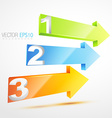 numbered arrows vector image vector image