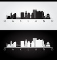 oakland usa skyline and landmarks silhouette vector image vector image