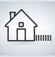 outline home icon isolated on light background vector image vector image