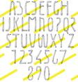 Pencil Font vector image