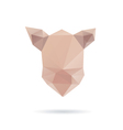 pig head abstract isolated on a white backgrounds vector image vector image