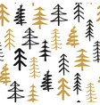pine tree seamless pattern new year and christmas vector image vector image