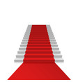 podium with red carpet vector image vector image
