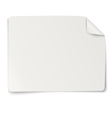 Rectangular paper sticker note isolated