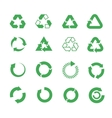 Recycle raw materials icons set vector image vector image