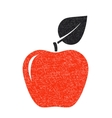 red texture apple vector image