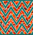 retro zigzag seamless pattern vector image vector image