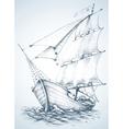 Sailboat wallpaper vector image vector image