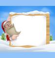 santa christmas banner vector image