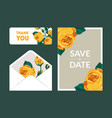 save date holiday wedding invitation vector image