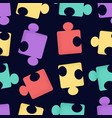 seamless pattern cartoon puzzle pieces vector image