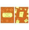 set of halloween festive pattern endless vector image vector image
