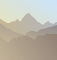 Silhouette of mountains vector image vector image
