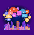 smart connected city vector image