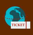 ticket around the globe vector image