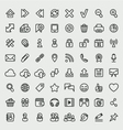 Universal Web Icons Outline Set vector image vector image