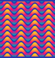 vibrant wave seamless pattern vector image vector image