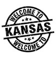 welcome to kansas black stamp vector image vector image