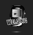 welding and abstract mask of a welder vector image