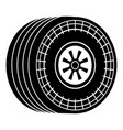 wheel sport car icon simple black style vector image vector image