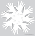 White hands Abstract background for design vector image vector image