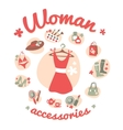 Woman accessories icons set vector image vector image
