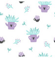 cute plants seamless pattern vector image