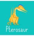 Pterosaur dinosaur colorful card vector image