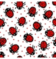 Ladybugs on white background vector image
