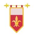 Medieval coat cartoon icon vector image