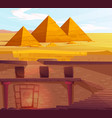 ancient egypt pharaoh underground lost tomb vector image vector image