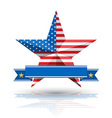 Big Star American Flag on White background vector image
