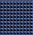 blue 3d pattern - seamless background vector image